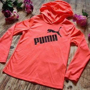 6X Glitter Print Neon Pink Puma hoodie shirt